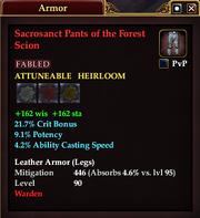 Sacrosanct Pants of the Forest Scion
