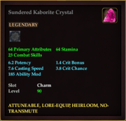 Sundered Kaborite Crystal