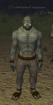 A Bloodskull negotiator