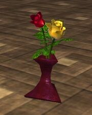 Red and Yellow Roses in a Vase (Visible)