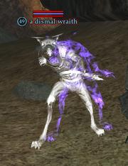 A dismal wraith