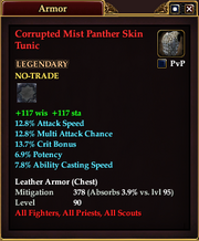 Corrupted Mist Panther Skin Tunic