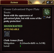 Green Galvanized Paper Plate Boots