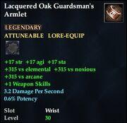 Lacquered Oak Guardsman's Armlet