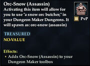 Orc-Snow (Assassin)