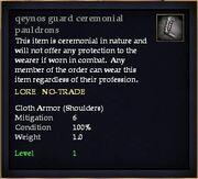 Qeynos guard ceremonial pauldrons
