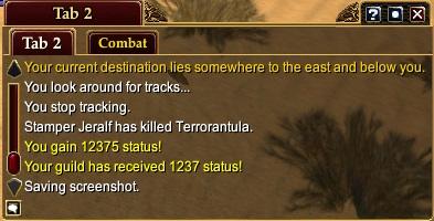 Terrorantula Status Points