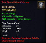 Zek Demolition Cuirass