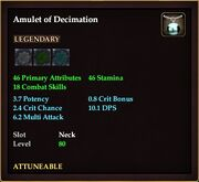 Amulet of Decimation