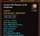 Ancient War Hammer of the Awakened