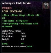 Ashengaze Hide Jerkin