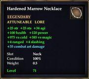 Hardened Marrow Necklace