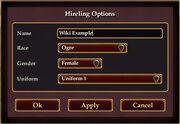 Hireling-options-window
