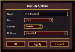 Hireling-options-window