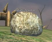 Partially chewed ore