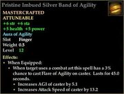 Pristine Imbued Silver Band of Agility
