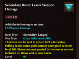 Secondary Rune: Lesser Weapon Damage
