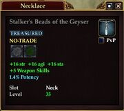 Stalker's Beads of the Geyser