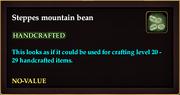 Steppes mountain bean