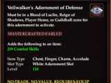 Veilwalker's Adornment of Defense (Collection Reward)