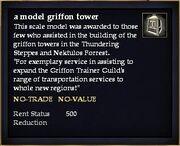 A model griffon tower