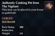 Authentic Cooking Pot from The Vigilant