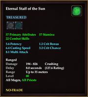 Eternal Staff of the Sun