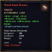 Flared Royal Bracers