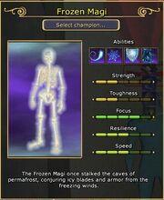 Frozen Magi arena stats