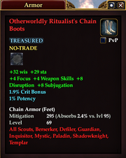 Otherworldly Ritualist's Chain Boots
