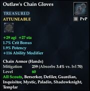 Outlaw's Chain Gloves (Treasured)