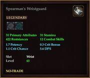 Spearman's Wristguard