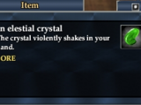 An elestial crystal