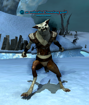 An enthralled Snowfang gnoll