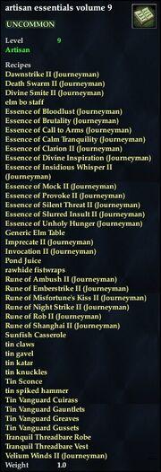 Artisan essentials volume 9