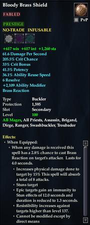 Bloody Brass Shield (Buckler)