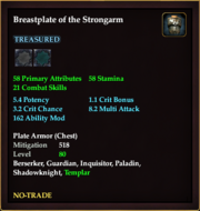 Breastplate of the Strongarm