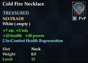Cold Fire Necklace