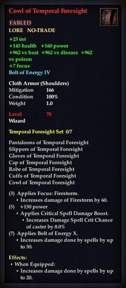 Cowl of Temporal Foresight