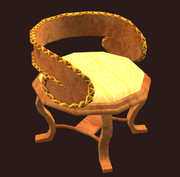 Golden fae chair