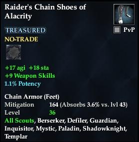 Raider's Chain Shoes of Alacrity | EverQuest 2 Wiki | FANDOM
