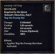 Swamp rat trap