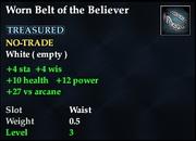 Worn Belt of the Believer