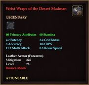 Wrist Wraps of the Desert Madman