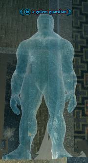 A golem guardian