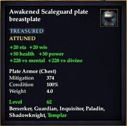 Awakened Scaleguard plate breastplate