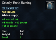 Grizzly Tooth Earring