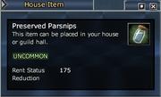Preserved Parsnips