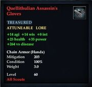 Quellithulian Assassin's Gloves