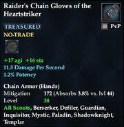 Raider's Chain Gloves of the Heartstriker